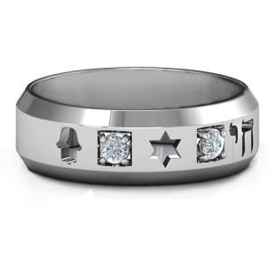 Personalised Men's Judaica Ring - Custom Made By Yaffie™