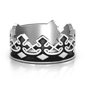 Personalised Men's Regal Crown Band - Custom Made By Yaffie™