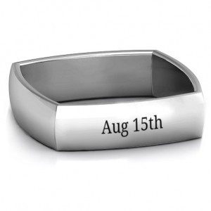 Personalised Men's Square ComfortFit Band - Custom Made By Yaffie™