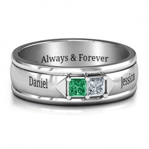 Personalised Men's Timeless Romance Ring - Custom Made By Yaffie™