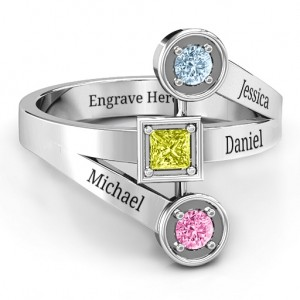 Personalised Modern Birthstone Ring - Custom Made By Yaffie™