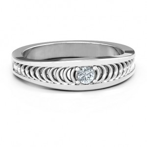 Personalised Modern Elegance Band Ring - Custom Made By Yaffie™
