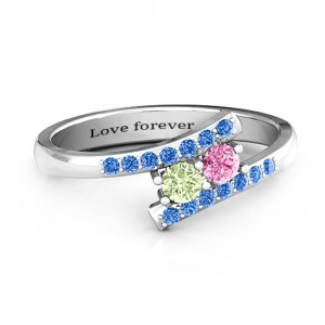 Personalised Moment We Met Two Stone Ring - Custom Made By Yaffie™