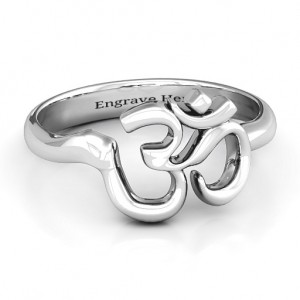 Personalised Om Sound of Universe Ring - Custom Made By Yaffie™