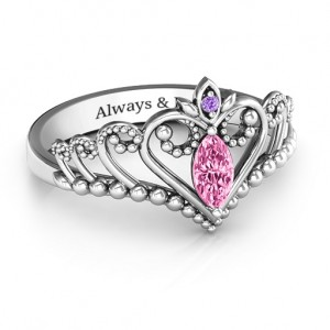 Personalised Once Upon A Time Tiara Ring - Custom Made By Yaffie™