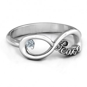 Personalised Peace Infinity Ring - Custom Made By Yaffie™