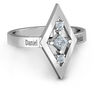Personalised Playing with Diamonds Ring - Custom Made By Yaffie™