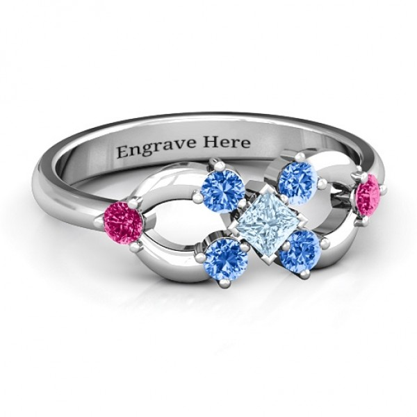 Personalised Princess Centre Infinity Ring - Custom Made By Yaffie™