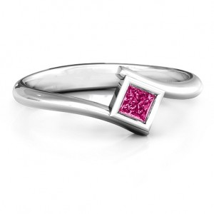 Personalised Princess Cut Bypass Ring - Custom Made By Yaffie™