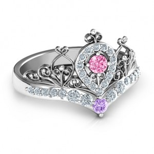 Personalised Queen Of My Heart Tiara Ring - Custom Made By Yaffie™