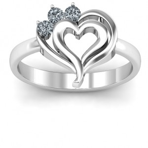 Personalised Radial Love Ring - Custom Made By Yaffie™