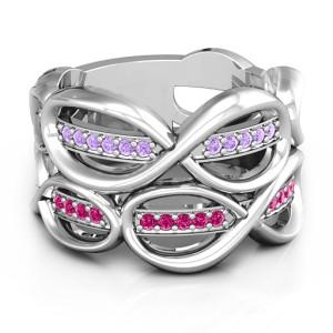 Personalised Ravishing Love Infinity Ring - Custom Made By Yaffie™