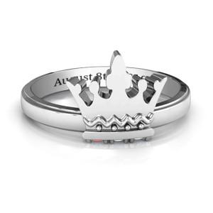 Personalised Royal Family Princess Tiara Ring - Custom Made By Yaffie™