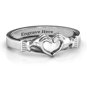 Personalised Sculpted Hand Heart Ring - Custom Made By Yaffie™