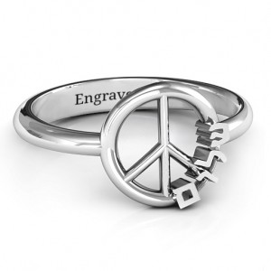 Personalised Shalom Peace Ring - Custom Made By Yaffie™