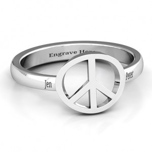 Personalised Shanti Peace Ring - Custom Made By Yaffie™