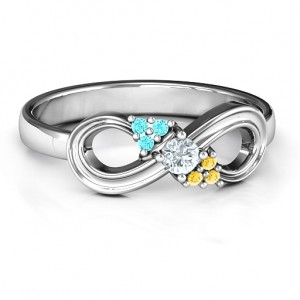 Personalised Solitaire Infinity Ring with Accents - Custom Made By Yaffie™