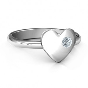 Personalised Soulmate's Heart Ring - Custom Made By Yaffie™