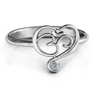 Personalised Spiritual Heart Om Ring - Custom Made By Yaffie™
