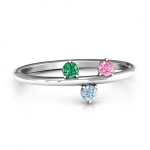 Personalised Stackable Sparkle 15 Stone Ring - Custom Made By Yaffie™