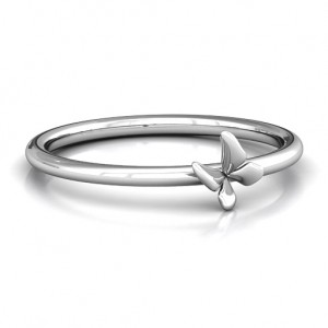 Personalised Stackr Soaring Butterfly Ring - Custom Made By Yaffie™