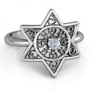 Personalised Star of David with Filigree Ring - Custom Made By Yaffie™