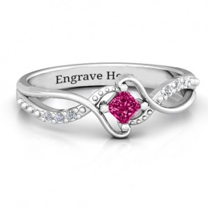 Personalised Espiral Princess cut Ring with Accents - Custom Made By Yaffie™