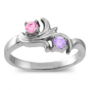 Personalised Nouveau Flame 26 Gemstones Ring - Custom Made By Yaffie™