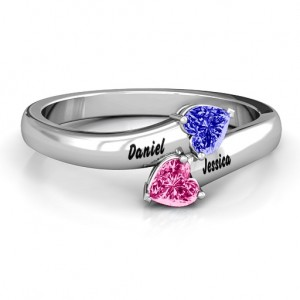 Personalised Tribute Hearts Bypass Ring - Custom Made By Yaffie™