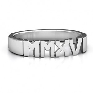 Personalised 2015 Roman Numeral Graduation Ring - Custom Made By Yaffie™