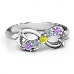 Personalised 5 Stone Infinity with Soaring Butterflies - Custom Made By Yaffie™