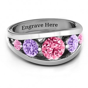 Personalised 5 Stone Split Shank Ring - Custom Made By Yaffie™