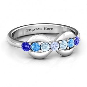 Personalised 7 Stones Infinity Ring - Custom Made By Yaffie™