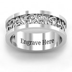 Personalised Celtic Wreath Men's Ring - Custom Made By Yaffie™