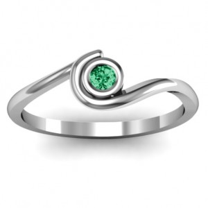 Personalised Curved Bezel Ring - Custom Made By Yaffie™