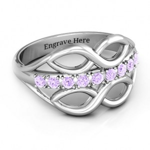 Personalised Double Infinity Ring with Accents - Custom Made By Yaffie™