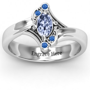 Personalised Fancy Oval Asymmetrical Ring - Custom Made By Yaffie™