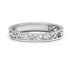 Personalised Filigree Band Ring - Custom Made By Yaffie™