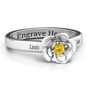 Personalised Flourish Rose Ring - Custom Made By Yaffie™