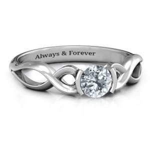 Personalised Half Bezel Infinity Ring - Custom Made By Yaffie™