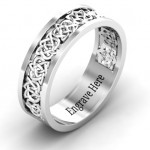 Personalised Half Eternity Celtic Ring - Custom Made By Yaffie™