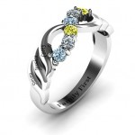 Personalised Infinity and Wave Ring - Custom Made By Yaffie™