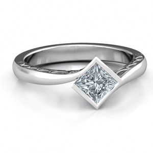 Personalised Krista Princess Cut Ring - Custom Made By Yaffie™