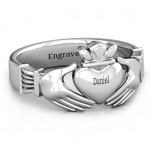 Personalised Men's Classic Celtic Claddagh Ring - Custom Made By Yaffie™