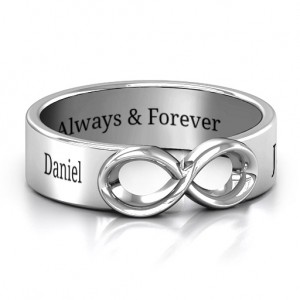 Personalised Men's Expression of Infinity Band - Custom Made By Yaffie™
