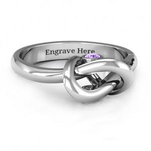 Personalised Modern Infinity Heart Ring - Custom Made By Yaffie™