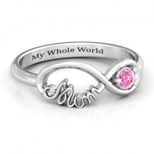 Personalised Mom's Infinity Bond Ring - Custom Made By Yaffie™