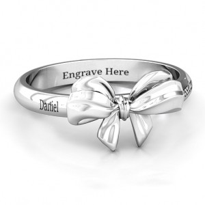 Personalised Papillon Bow Ring - Custom Made By Yaffie™