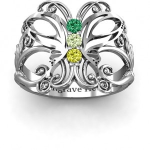 Personalised Precious Butterfly Ring - Custom Made By Yaffie™