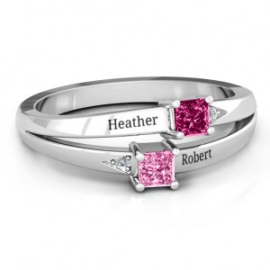 Personalised Princess Stone and Accent Ring - Custom Made By Yaffie™
